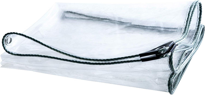 DLMSDG 0.3mm Philadelphia Mall Glass Clear Tarpaulin Waterproof Tarp Transparent Over item handling ☆