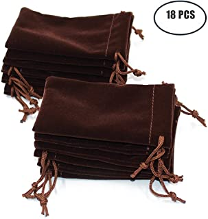 Md trade 18pcs Velvet Cloth Jewelry Pouches / Drawstring Bags 4.7