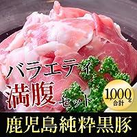 稲穂 純粋黒豚 鹿児島県産 バラエティ満腹セット1000g