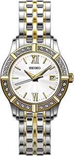 Seiko Women's SXDE50 Two Tone Stainless Steel Analog with Silver Dial Watch