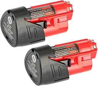 Sponsored Ad – 2 Pack Waitley M12 12V 3.0Ah Replacement Battery Compatible with Milwaukee M12 48-11-2401 Li-Ion Battery 4...