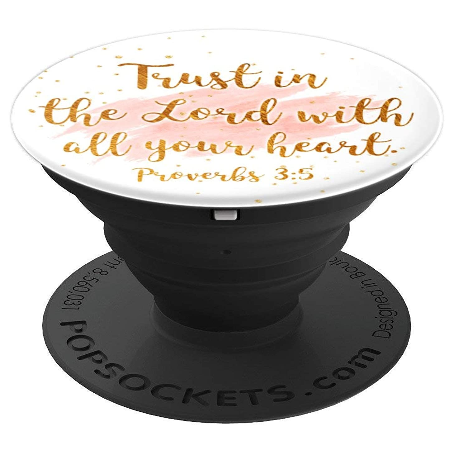Proverbs 3:5 - Bible Verse Christian Inspiring Quote - PopSockets Grip and Stand for Phones and Tablets efpdi128639096