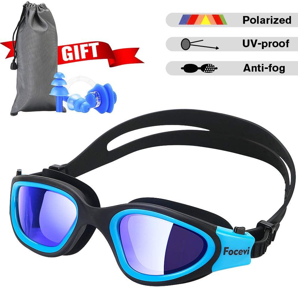 Unisex Non-Fogging Anti UV Swimming Goggle Bundle Swimming Caps Glasses Black US