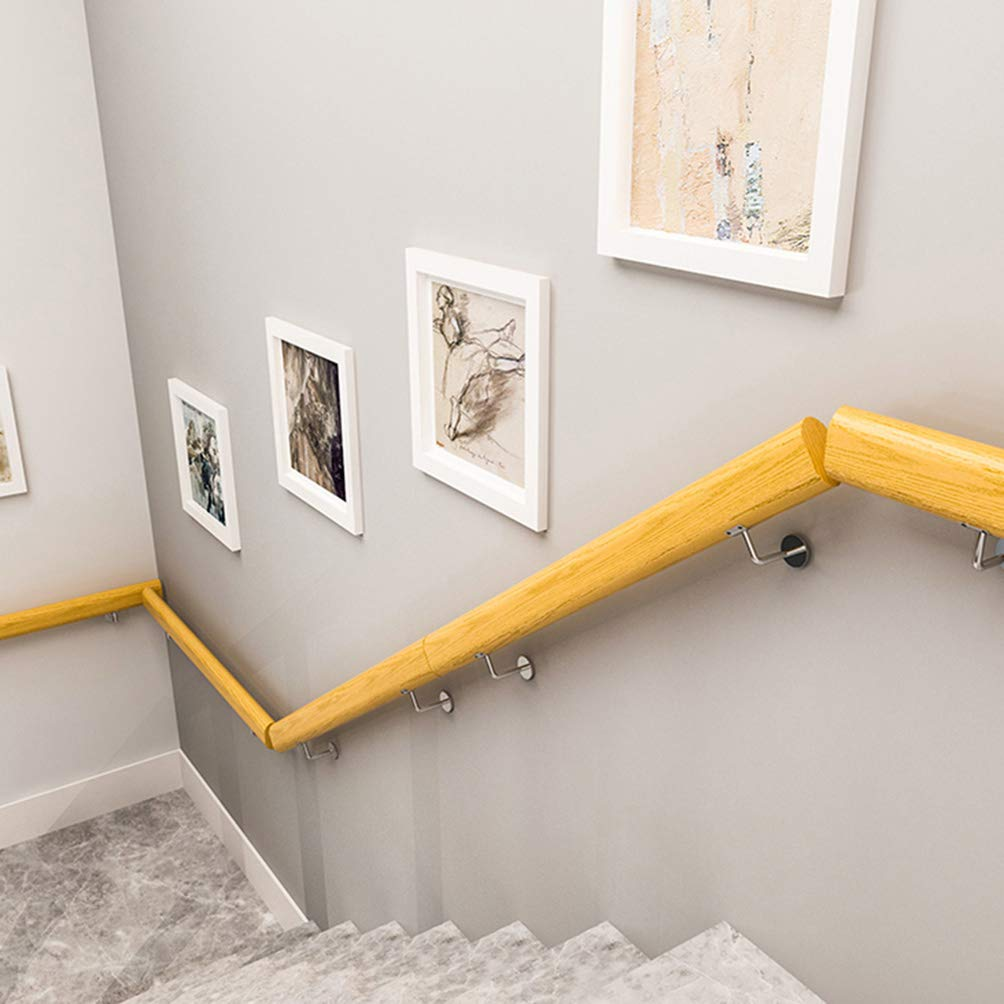 Handrail Pasamanos - Barandillas de Escaleras Modernas, Barandillas de Madera Maciza Fáciles de Instalar, Pasamanos Antideslizantes para Interiores de Villas, Acceso a Hospitales, Pasamanos Ovaladas: Amazon.es: Hogar