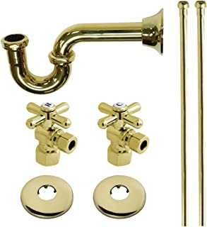 Kingston Brass KPK102P Trimscape Plumbing Supply Kits Combo, 1/2-Inch IPS Inlet, 3/8-Inch Comp Outlet, Polished Brass