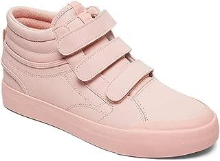 DC Women's Evan Hi V Se J Shoe Row Rosewater Leather Sneakers-4 UK/India (37 EU) (3613373266644)