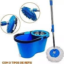 ESFREGÃO VASSOURA BALDE CESTO PERFECT MOP PRO - 7 litros 3 refis 360º