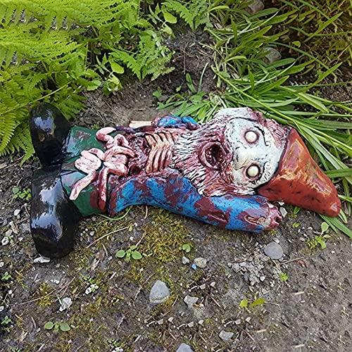 LEFUYAN Resin Zombie Gnome Ornament,...