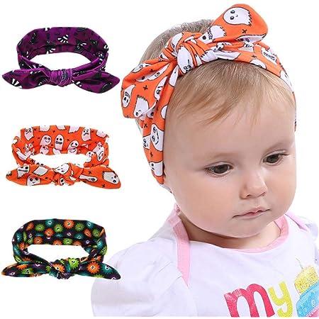 Girl Headband Baby Girl Headband Halloween Headband Halloween Bow Baby Headband Nylon Headband Infant Headband Halloween Headband