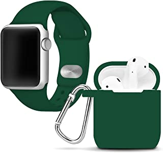 Affinity Bands Silicone Sport Band Compatible with 42mm and 44mm Apple Watch (Green Combo, 42mm/44mm)