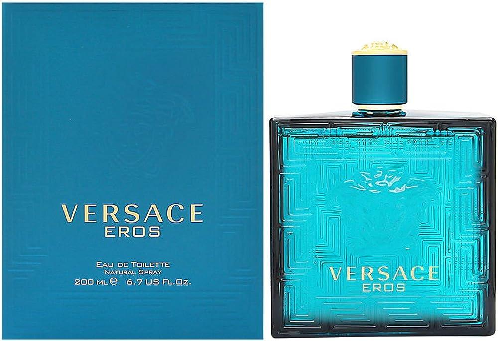 Versace eros, eau de toilette 200ml,profumo per uomo VER740011