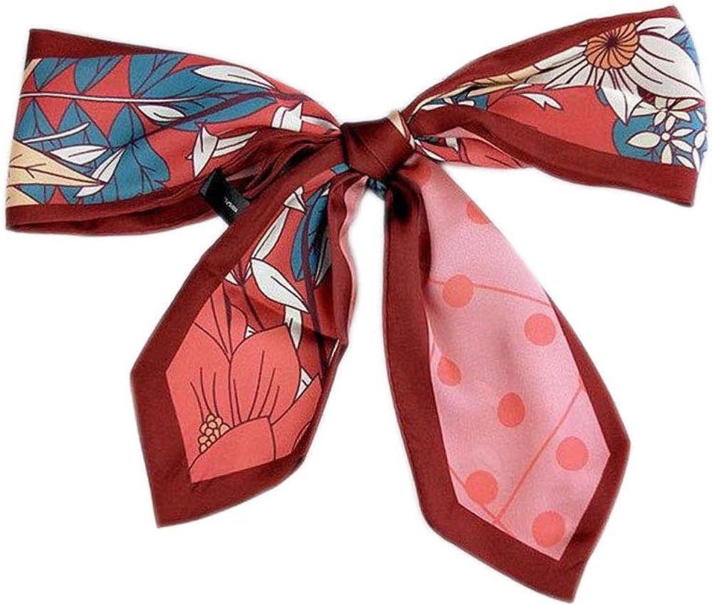 Versatile Silk Like Skinny Scarf Narrow Neckerchief Women's Fashion Bag Ribbon Scarf Headbands Trendy Hair Band