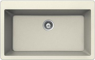 Houzer MONTANO N-100XL MAGNOLIA Schock-Houzer Montano Series N-100XL Topmount Large Single Bowl Kitchen Sink, Magnolia