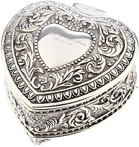 Multifunctional Caja de almacenamiento de joyas Joyas vintage Amor Caja de corazón de Metal Craft Creativo Europa Tipo Restauración Antigua Formas de la antigüedad Caja de joyería de caja (Color: SSH0