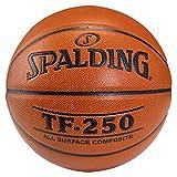 SPALDING - TF250 IN/OUT SZ.7 (74-531Z) - Ballons de basket NBA - Touché et Contrôle améliorés - Matière Durable - Mixte Adulte, orange, 7