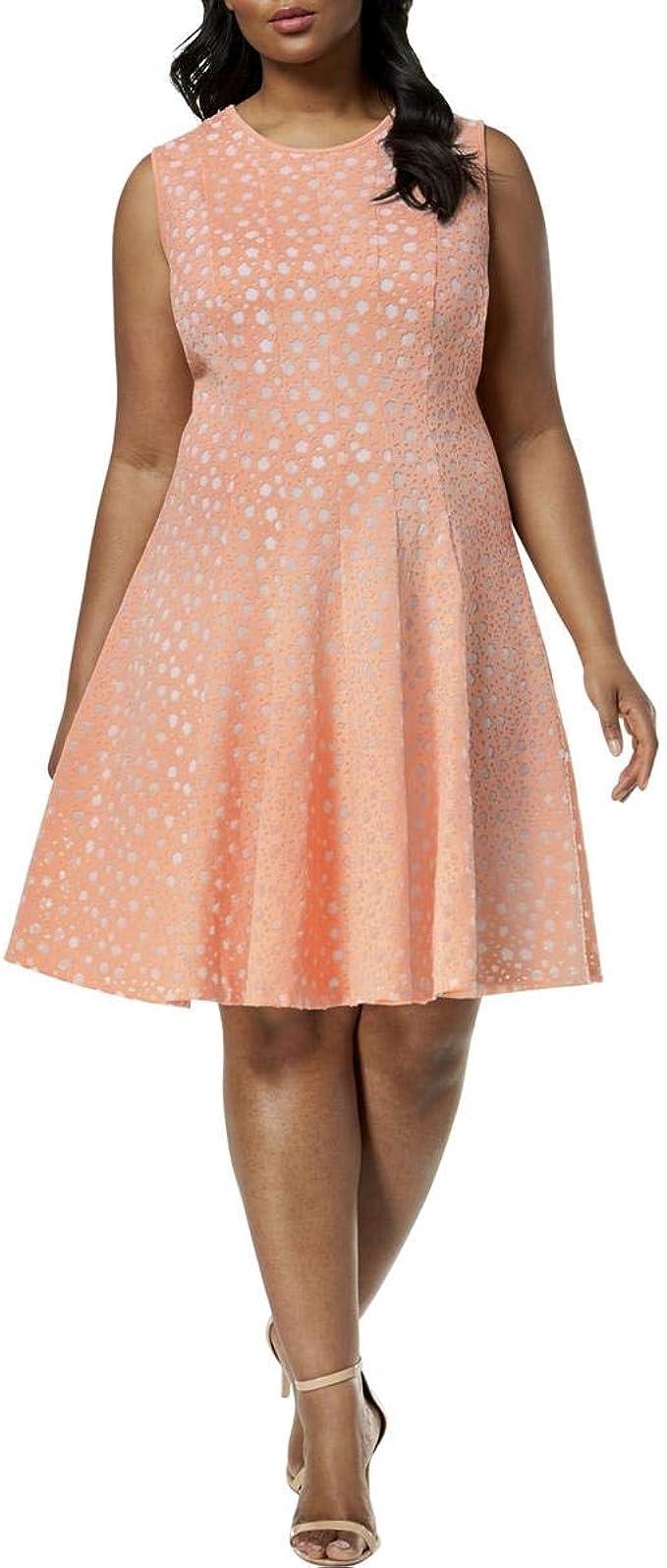 Calvin Klein Damen PERF FIT/Flare Dress Kleid, Nectar, 20 Mehr ...