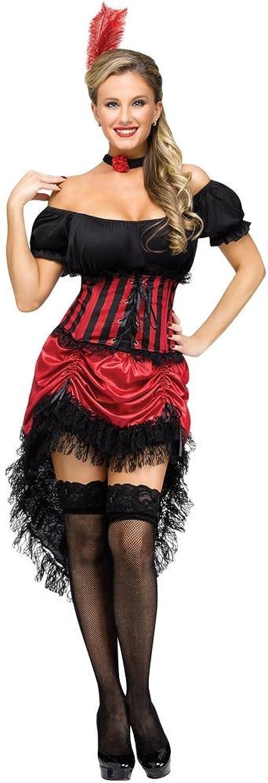 Tienda de moda y compras online. Fun World Disfraz saloon Gala talla talla talla SM, Color rojo  popular
