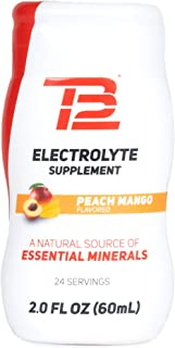 TB12 Electrolyte Supplement for Optimized Hydration - Liquid Drops for Water, Gluten-Free, Sugar-Free, Vegan, with Magnesi...