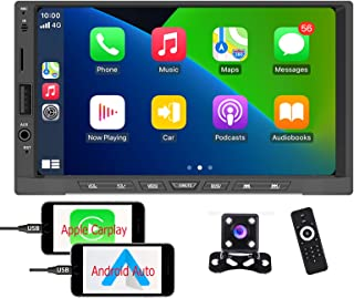 $89 » Hikity Apple Play Car Stereo Double Din Car Radio Android Auto , 7 Inch Touch Screen Car Stereo with Bluetooth FM Receiver...