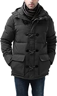 BGSD Men's Connor Hooded Waterproof Toggle Down Parka Coat (Regular and Big & Tall)