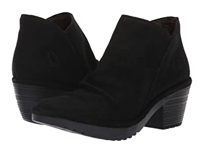 FLY LONDON WEZO890FLY (Black Oil Suede) Women