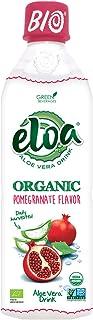 ELOA Organic Pomegranate Flavored Water Aloe Vera Pulp, Natural Fresh Fruit Flavor Vegan Clean Gluten Free Non GMO Healthy...