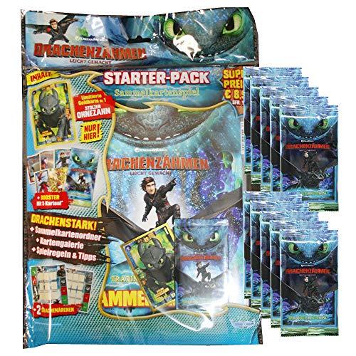 Dragons Trading Cards Serie 3 (2019) - Die geheime Welt - 1 Starter + 10 Booster