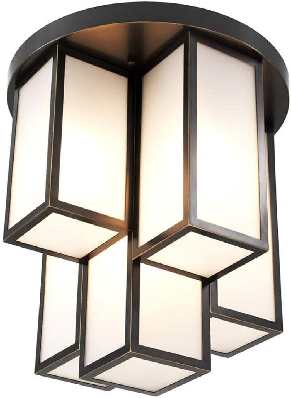 Casa Padrino Luxus Deckenleuchte Bronze Weiß Ø 50 x H. 53,5 cm - Luxus Qualität B07P5QXL5K | Mittlere Kosten