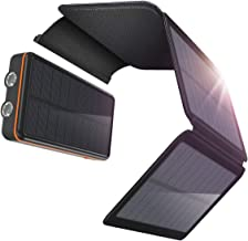 TKKOK Solar Portable Charger 26800mAh Fast Phone Charger PD 18W Portable Power Bank for Outdoor, 3 Outputs Type-C USB QC3.0 Water-Resistant Charger Pack with LED Flashlight Compatible Most Phones