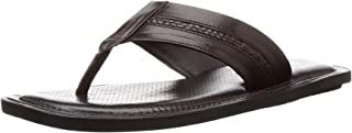 BATA Men's Berry Brown Leather Hawaii Thong Sandals-8 UK/India (42 EU) (8744993)