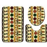 Dongbin Dreifarben-Druckvorrichtung Haushalts Bad Sanitärtoilettenmatten Teppichmatten Stark Absorbierende Baumwolle Flanell Anti-Skid Blockspeicher U-Förmigen,5,50 * 80cm