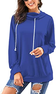 Womens Sweatshirts and Hoodies Long Sleeve Striped Color Block Pullover Tops