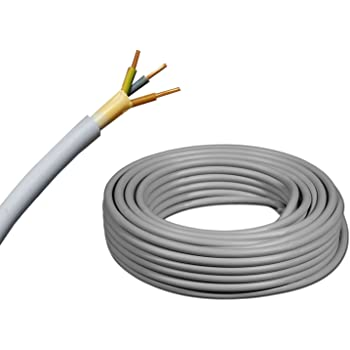 etc 35 m Vendu au m/ètre C/âble souterrain NYY-J avec 3 brins de 2,5/mm/² Ligne de terre en/PVC noir 25 m 50 m Exemple: 20 m Coupe par pas de 1 m/ètre Pour circuit de courant fort