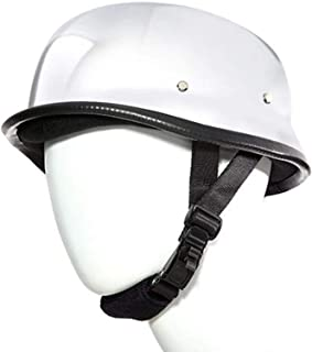 German Chrome Silver Novelty Skull Cap Half Helmet...
