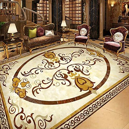 Personalizado murales y vinilos para salones Estilo europeo 3D Patrón de mármol Papel tapiz para piso Sala de estar Hotel Decoración de lujo Suelo 3D Mural PVC Autoadhesivo Pegatinas 3D-300 * 210cm