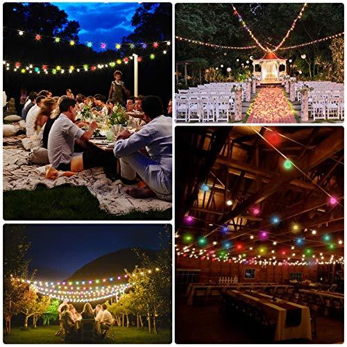 Lepro 100er LED Kugel Lichterkette Bunt 13M, Partybeleuchtung Außen mit Stecker, 8 Modi und Merk Funktion, ideale Partylichterkette für Innen, Hochzeit, Party Deko usw. Mehrfarbig - 4