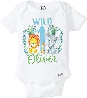 Zoo Birthday Shirt First Birthday Boy Onesie Jungle Birthday Shirt Wild One Birthday Outfit Elephant Birthday Shirt Zoo Animals Birthday Shirt