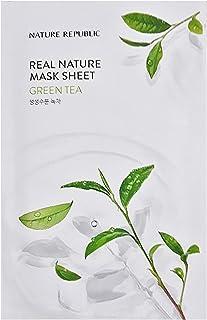 Nature Republic Real Nature Mask Sheet GREEN TEA 10pc SET