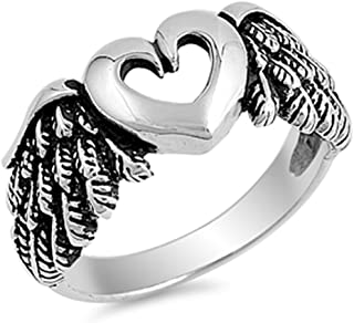Best angel wing heart ring Reviews