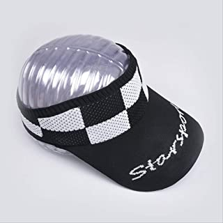 Half-empty Top Hat Female Korean Version Of The Tide Topless Plaid Sun Hat To Cover The Face Against