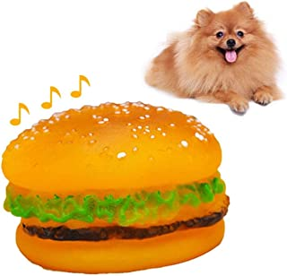 SKEIDO Pet Hamburger Chew Toys Squeaky Sound Toy Toys for Small Dogs Puppy