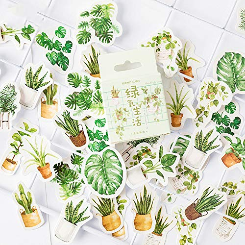 90 Pcs 2pack Green Potted Plant Decorative Washi Stickers Scrapbooking Stick Label Diary Stationery Album Stickers