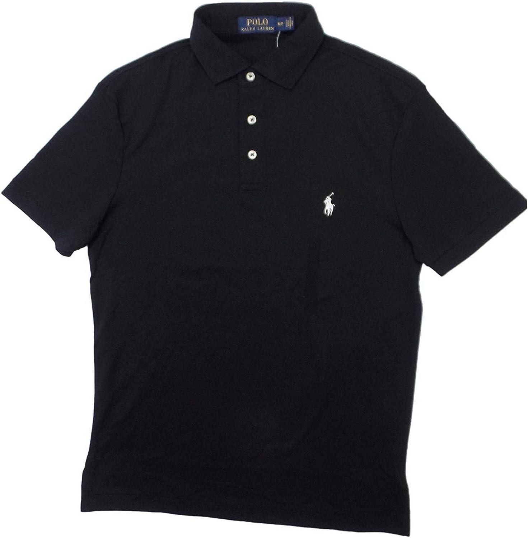 Ralph Lauren Polo Mens Interlock Polo Shirt (X-Large, Polo Black)