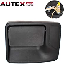 AUTEX Black Exterior Rear Left Door Handle Driver Side Compatible with Ford F-250 350 450 550 99-16 Replacement for Ford Excursion 00-05 80234