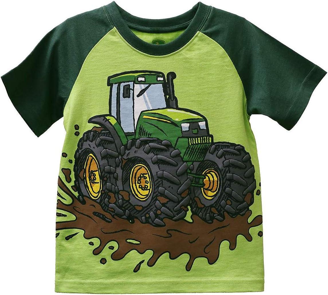 John Deere Boy Toddler Tee Mud Tractor Size 3T Green