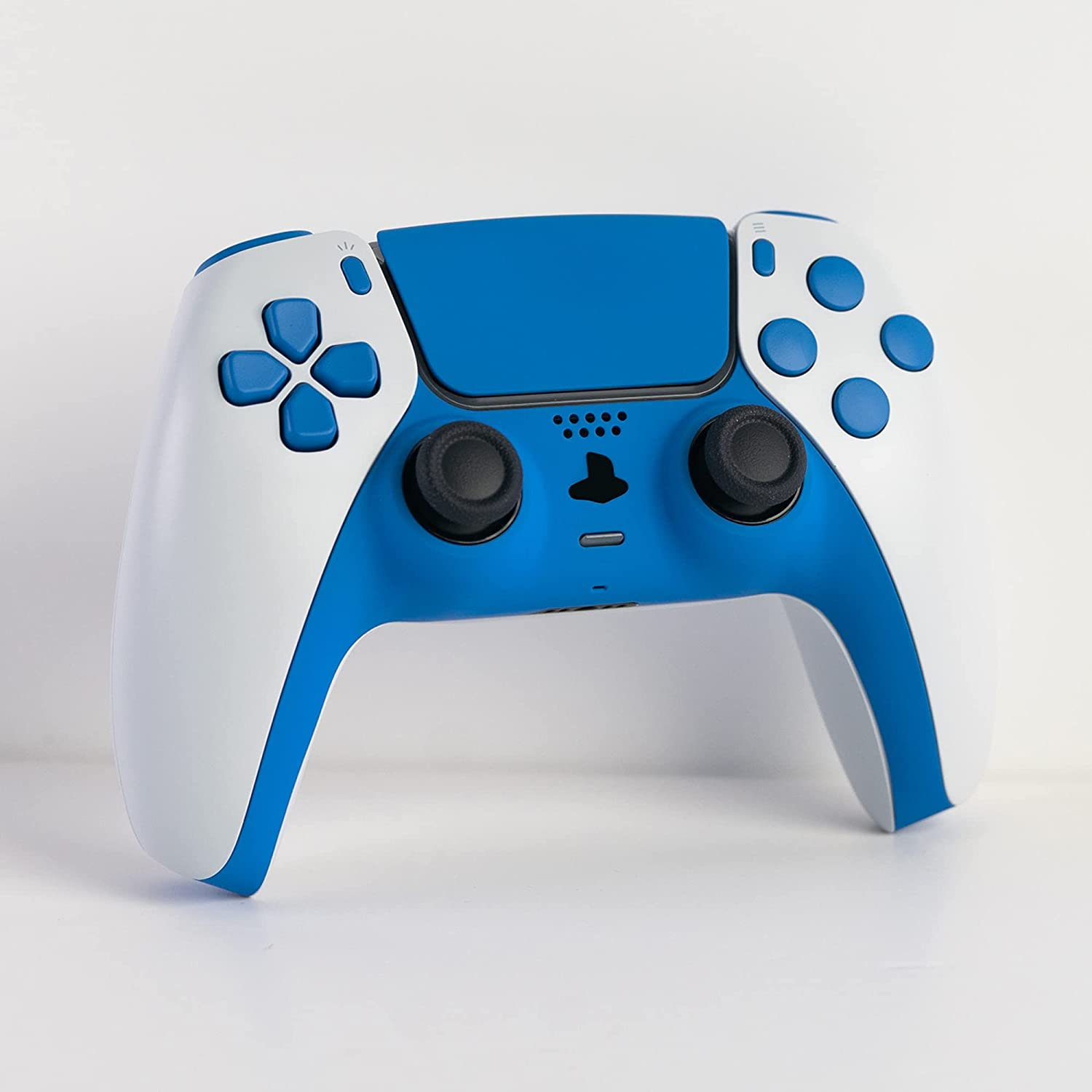 Gamenetics Custom Official Wireless Bluetooth Controller for PS5 Console - PC - Un-Modded - Video Gamepad Remote (Soft Touch Inverted French Blue)