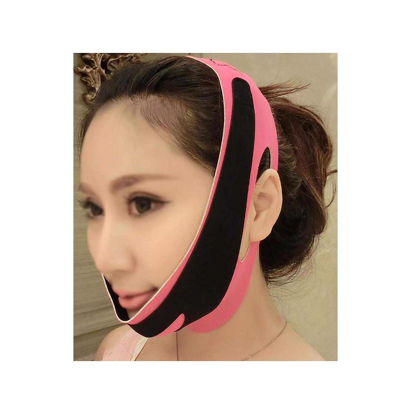 含むサスペンドラボ薄い顔の包帯の顔のスリムを取り除く二重あごを取り除くVラインの顔の形を作成するあごの頬リフトアップアンチリンクルリフティングベルトフェイスマッサージツール女性と女の子用(3フェイス包帯)
