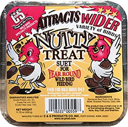 C. & S. Prod. 12559 Wild Bird Suet Cake-NUTTY TREAT SUET