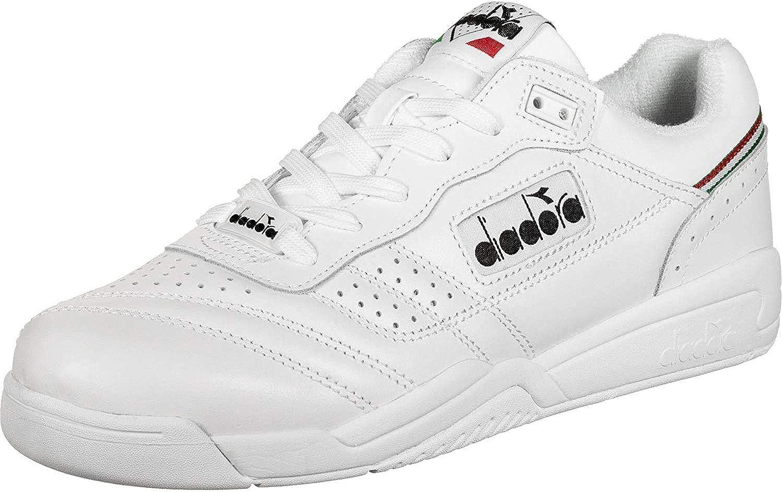 Diadora, Uomo, Action, Pelle, Sneakers, Bianco blanc/noir