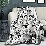 Super Soft Light Weight Throw Blanket Akaashi Keiji Manga Collage Summer Quilt for Bed Couch Sofa 60